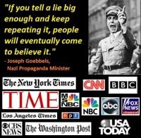 Nazi Propaganda Minister Joseph Goebbels Quotation