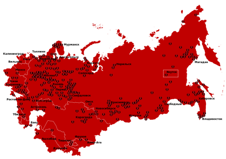 Gulag Location Map