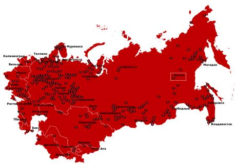 Gulag Location Map