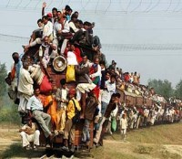 Local train in UP India