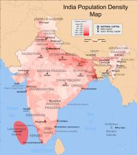 India Population Density Map