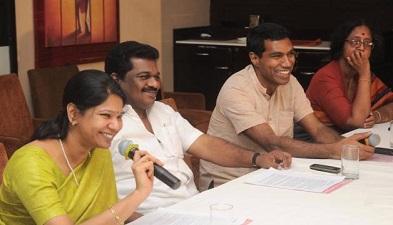 Kanimozhi & Fr Jagath Gaspar Raj