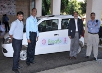 Biogas-driven vehicle at IIT Delhi