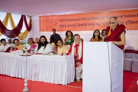 Dalai Lama opens Tibetan Pavilion in Shivaji Maharaj Museum of Indian History, Pune (28 July 2013)