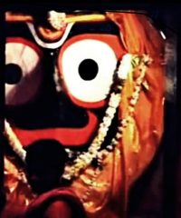 Lord Jagannath in the Sanctum Sanctorum of the Puri Jagannath Temple