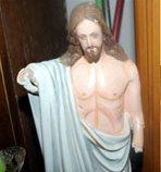 Broken Jesus idol