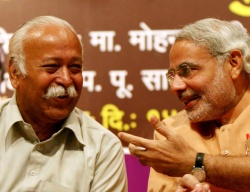 Mohan Bhagwat & Narendra Modi