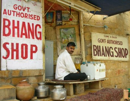 Bhang shop in Rajastan