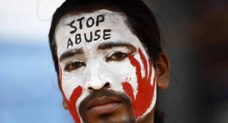 Anti-rape demonstrator