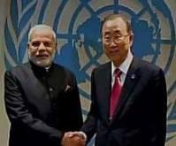 Modi & Ban Ki Moon