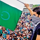 Pakistan flag waver in Srinigar