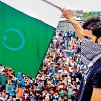 Pakistan flag waver in Srinigar