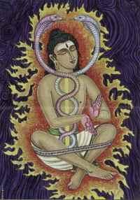 Shiva wearing a yoga band