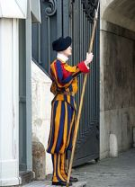 Swiss Guard at Vatican Gate