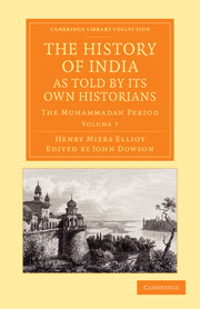 The History of India: As told by its own historians