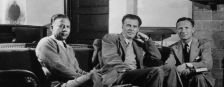 Swami Prabhavananda, Aldous Huxley, and Christopher Isherwood