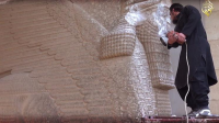 ISIS destroys Assyrian winged bull in Mosul