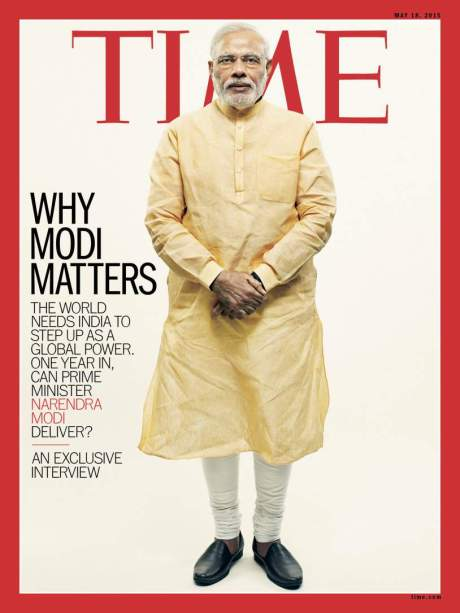 Modi on the Time cover May 18, 2015
