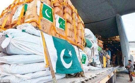Pakistan aid to Nepal April 2015
