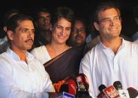 Robert Vadra, Priyanka Gandhi Vadra and Rahul Gandhi