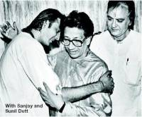 Sanjay & Sunil Dutt with Bal Thackeray