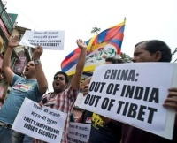 Tibetan demonstration against China