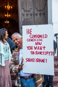 Protest against Serra's canonization