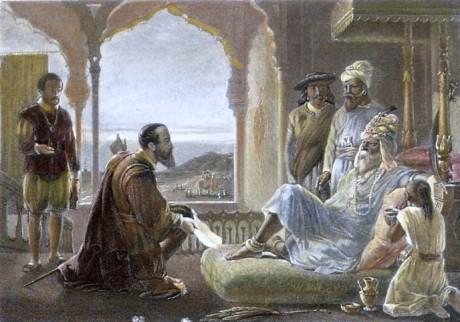 Vasco da Gama & Zamorin of Calicut