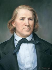 Brigham Young: Self-styled prophet, polygamist and slaver. Kind of a 19th century Muhammad.