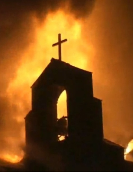 Black church burning in the USA