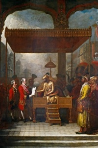 Shah Alam hands over tax collecting rights to Robert Clive and the East India Company