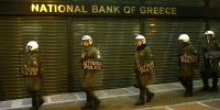 Police guard Greek ATMs