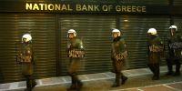 Police guard Greek ATMs