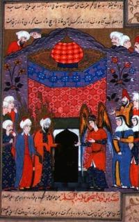 Ishmael & Abraham build  Ka'aba