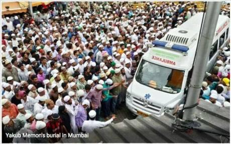 Yakub Memon cortege Mumbai 30-7-15
