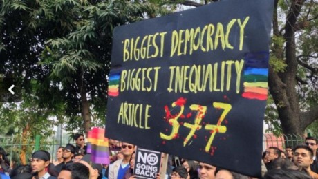 Demonstration against Section 377 in New Delhi