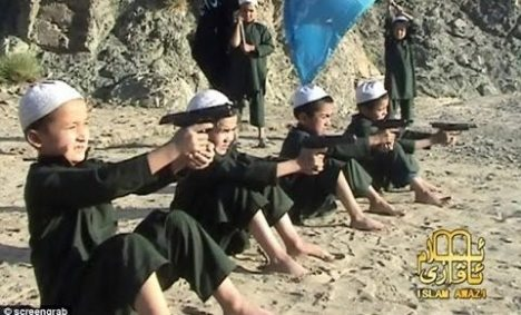 Child terrorists training in Pakistan