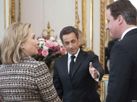 Hillary Clinton, Nicholas Sarkozy, and David Cameron