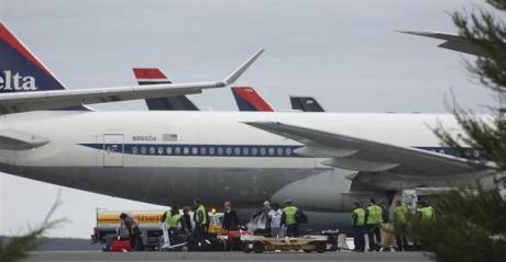 Delta planes parked at Gander