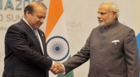 Nawaz Sharif & Narendra Modi in Ufa 2015