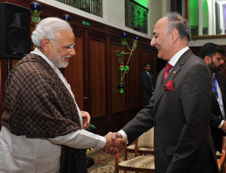 Netaji's grandnephew Surya Bose with PM Narendra Modi