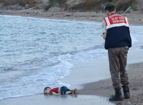 Drowned migrant child in Bodrum