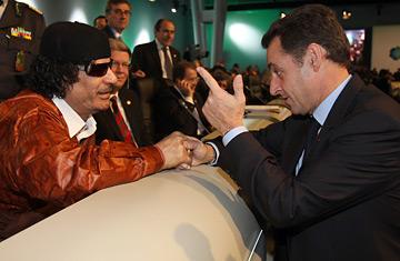 Gaddafi & Sarcozy