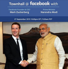 Narendra Modi & Mark Zuckerberg