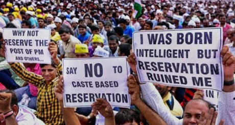 Reservation demonstration in Gujarat