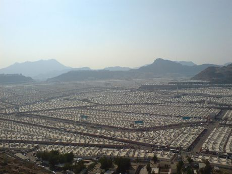 Tent city in Mina, Saudi Arabia