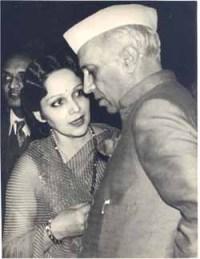 Devika Rani & Jawaharlal Nehru