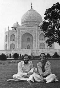 Larry Brilliant with wife Girija at the Taj