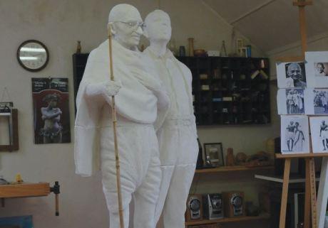 Gandhi & Kallenbach Statues