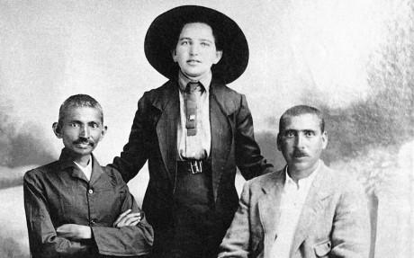 M. K. Gandhi, Sonia Schlesin, and Hermann Kallenbach (1913)